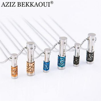 316L Stainless Steel Perfume Bottle Lover Necklaces & Pendants