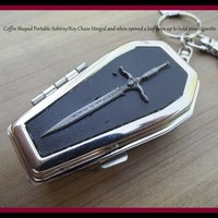Tophatter : Gothic Coffin Ash Tray for your Key Chain Novelty Gift