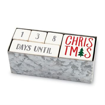 MUD PIE HOLIDAY COUNTDOWN BLOCK SET