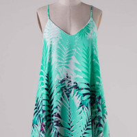 Tropical Vibes Dress - Mint