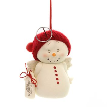 Holiday Ornaments DOES GOOD-ISH COUNT Snowpinions Angel  Christmas 6000939