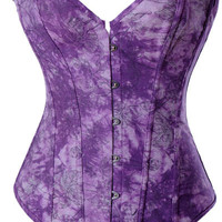 Purple Corset with Front Button