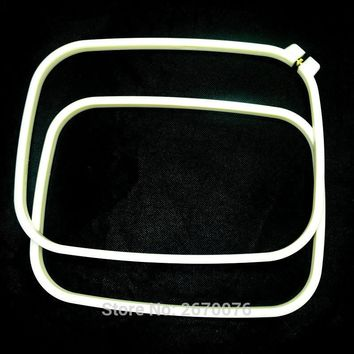 Oblong 8.7*11' Embroidery Frame Adjustable Rectangle ABS Cross Stitch Hoop Ivory Needlecrafts Hoops DIY Sewing Supplies 1pc