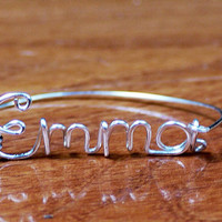 Personalized wire name bracelets by QueenCityConceptions on Etsy