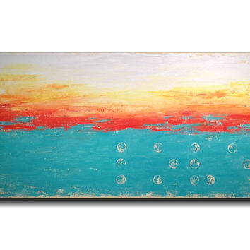 Abstract painting Jmjartstudio 24 X 48 Inches -------Beyond Words  ----- Braille LOVE