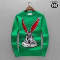 GUCCI Tide brand rabbit starling round neck men's bottoming sweater