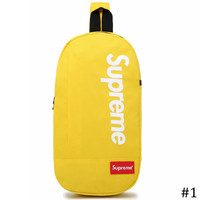 Supreme 2018 new multi-function canvas chest bag shoulder messenger pockets #1