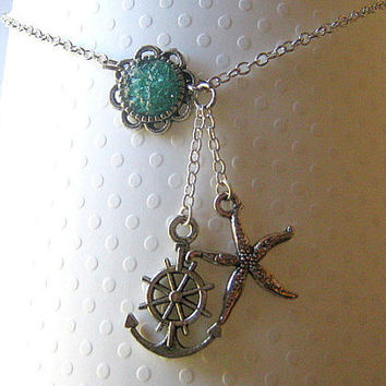 Anchor Ankle Bracelet Anchor Anklet Starfish Anklet by AimeezArtz