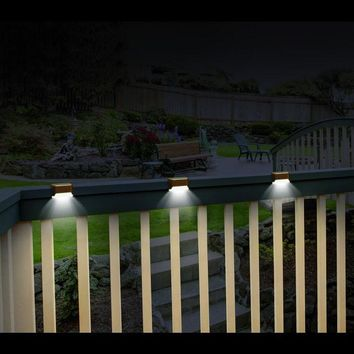 Set of 6 Solar Deck Lights