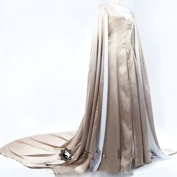 Elegant White Gown Lord of the Rings Lady Galadriel Cosplay Costume Fairy Dress Customized