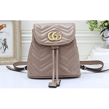 Gucci Best-selling Women's Pure Backpack Shopping Bag