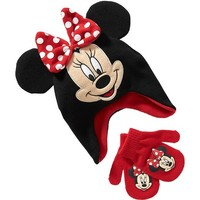 Old Navy Disney Minnie Mouse Hat & Mitten Set For Baby
