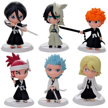 Bleach 6 Piece Anime Figure Set