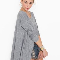 Trapeze Tail Tee in  Clothes Back In Stock at Nasty Gal