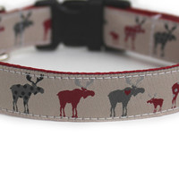 Moose Love Dog Collar