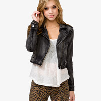 Denim Moto Jacket | FOREVER21 - 2031556860