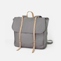 Women&men  Canvas Leather  Rucksack Hiking Bag (L06)