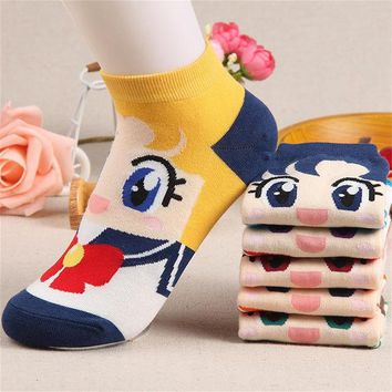 DCCKLG2 Sailor Moon KWAII Ankle Socks