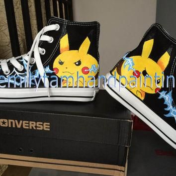 Pikachu on Black Converse for Pokemon Fandom