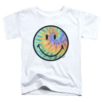 Smiley World - Tie Dye Face Short Sleeve Toddler Tee