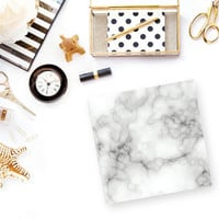 Marble Post-It Notes | Sticky Notes - Preppy-Chic-Desk Accessories-Kate-Spade-Gold-Stocking Stuffers