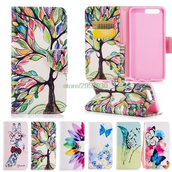 for Huawei P10 VTR-L09 VTR-L29 Luxury Painted Phone Leather Cover for Huawei P 10 Lite WAS LX1 Phone Cases for Huawei P10 Plus