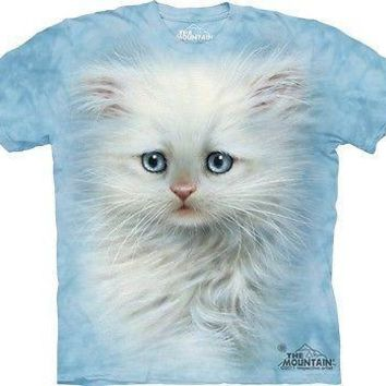 Fluffy White Kitten Kids T-Shirt