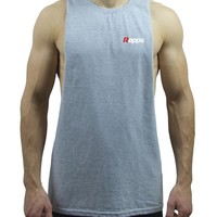 Repps Men's Sleeveless Cut off Muscle Tank Top Shirt - Heather Gray