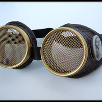 Hive Steampunk Goggle - Vintage Cameo Wasp Eye lens
