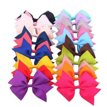CUPUP9G 20pcs 3' Boutique Hair Bows Girls Kids Children Alligator Clip Grosgrain Ribbon