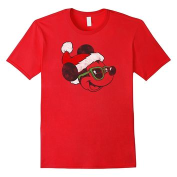 Disney Cool Santa Mickey Mouse Christmas T Shirt