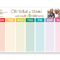 weekly schedule pad- oh! what a week!