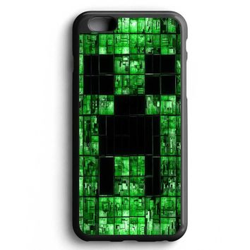 Custom Case Digital Electric Green Minecraft Creeper for iPhone Case & Samsung Case