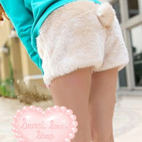 Cutie Bunny Tail Mini Shorts
