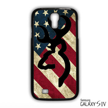 Browning Deer Camo America Flag for phone case Samsung Galaxy S3,S4,S5,S6,S6 Edge,S6 Edge Plus phone case