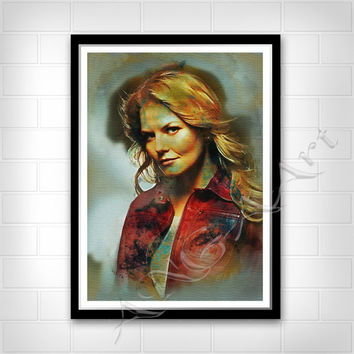 Once Upon a Time, Emma Swan, Emma Swan poster, Instant Download, Once upon a time poster, Jennifer Morrison poster, Once upon a time print