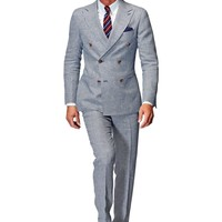 Suit Light Blue Houndstooth Soho P3837   Suitsupply Online Store