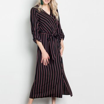 Positive Pinstripes Nursing Friendly Dress