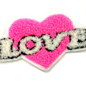 Sale- Love Chenille Patch