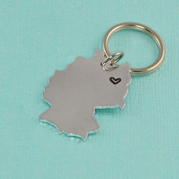 Germany Keychain or Necklace - Best Friend Gift - Couples Gift - Long Distance Love