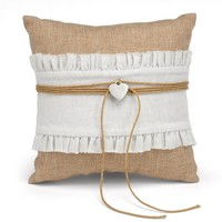 Rustic Romance Ring Pillow - Perfect Wedding Gift