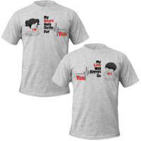 my love my heart for you Couple Tshirts