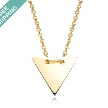 kiz&Co Gold Plated Sterling Silver Triangle Necklace