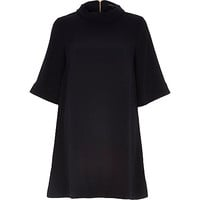 River Island Womens Navy high neck smock dress