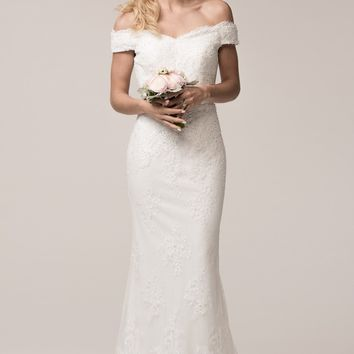 Vintage lace boho wedding dress BC#ttw16334