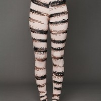 Free People Printed Ankle Slit Legging