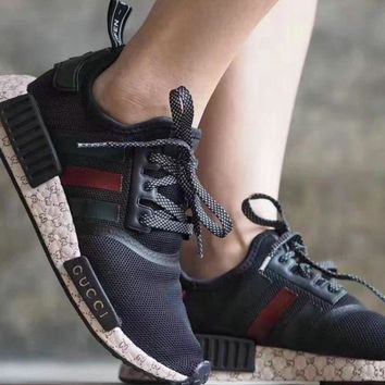 Adidas Gucci Nmd Fashion Trending Women Leisure Running Sports Shoes