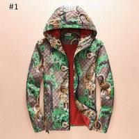 GUCCI 2018 autumn and winter new men's cardigan hooded jacket F-A00FS-GJ #1