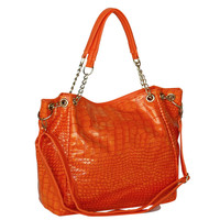 Hot Lady Hot Double Handle Leatherette Satchel Bag Handbag Purse