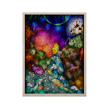 "Mandie Manzano ""Fairy Tale Alice in Wonderland"" KESS Naturals Canvas (Frame not Included)"